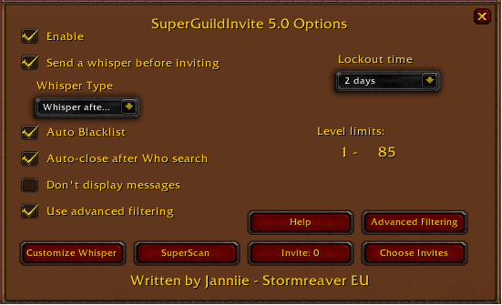 Images SuperGuildInvite Addons Projects WoW CurseForge