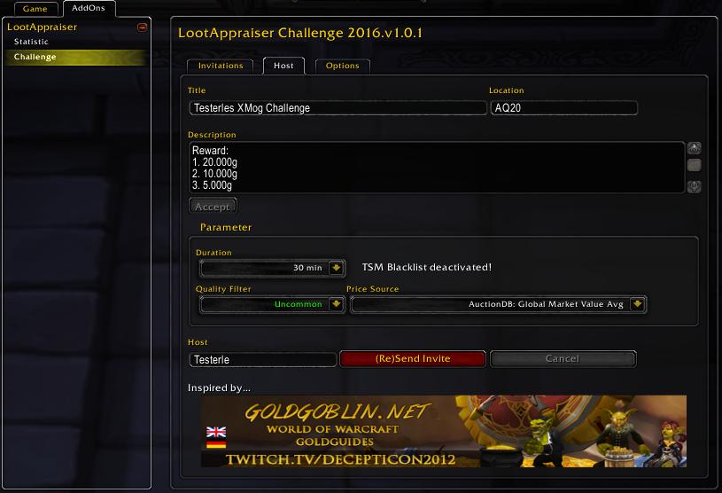 LootAppraiser Challenge - host configuration