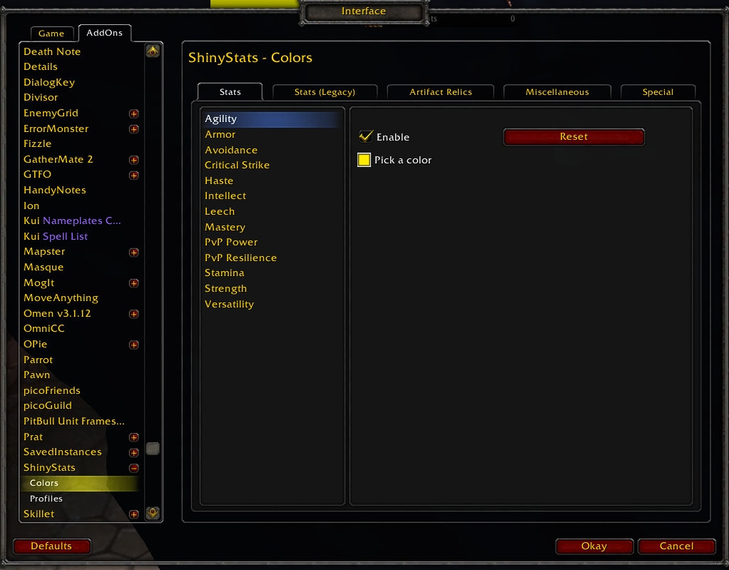 Images - ShinyStats - Addons - Projects - WowAce