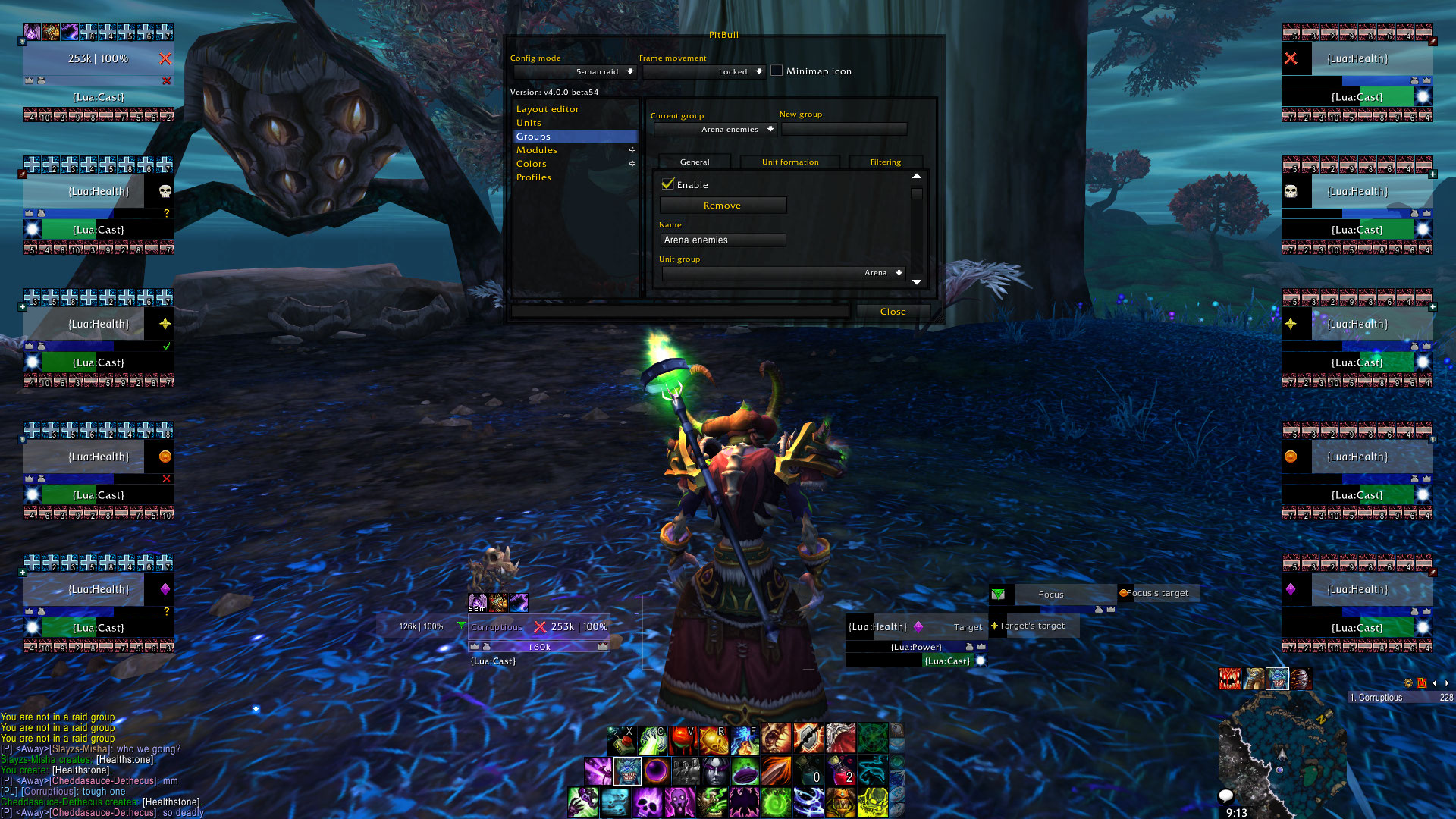 1098 Arena Frames Don T Show Issues Pitbull Unit Frames 4 0 Addons Projects Wowace