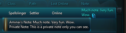 Note Tooltip