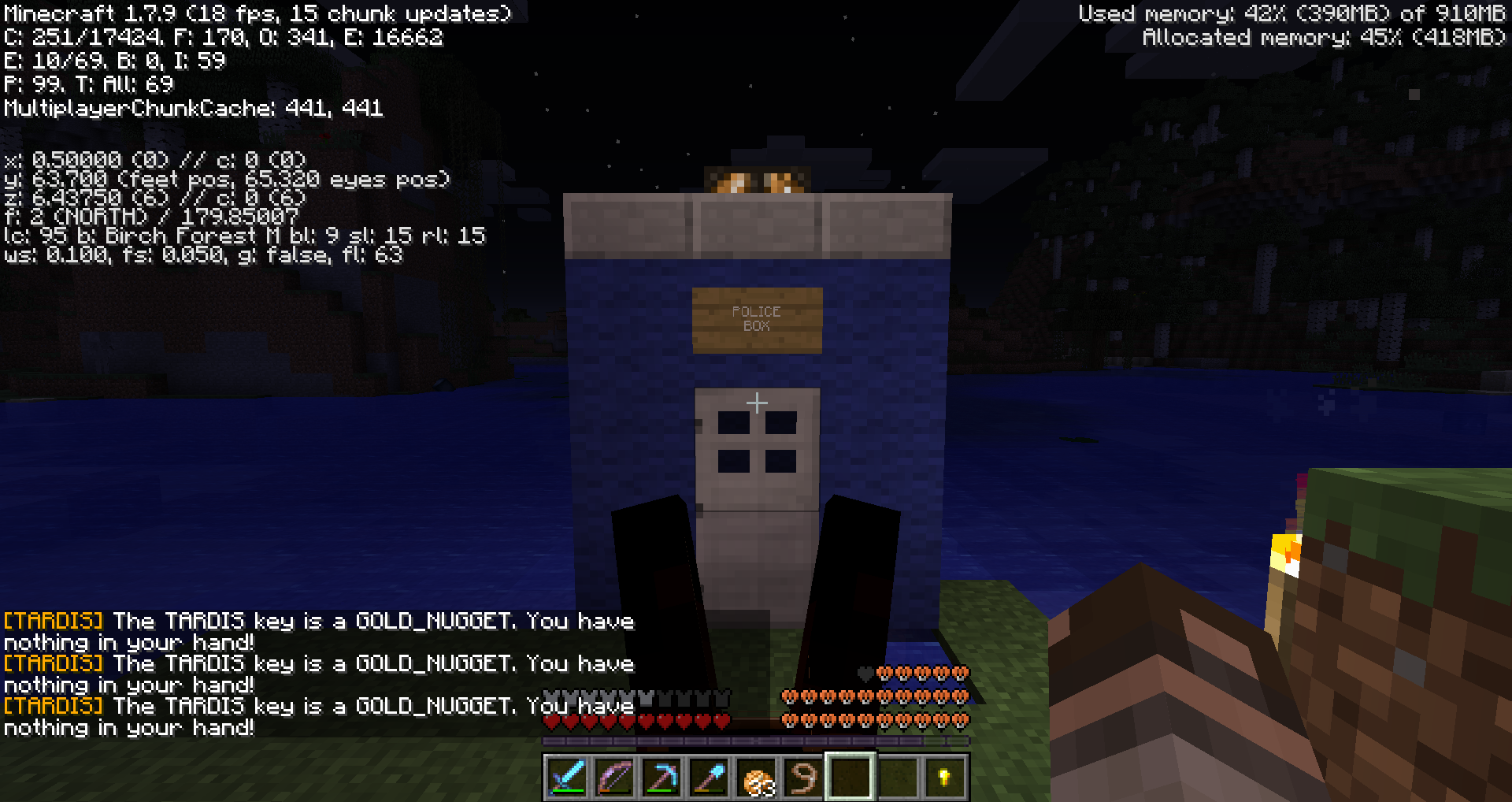 TARDIS Sets Occupation To Occupied But Doesnt TP Player And - Minecraft teleport player to coordinates