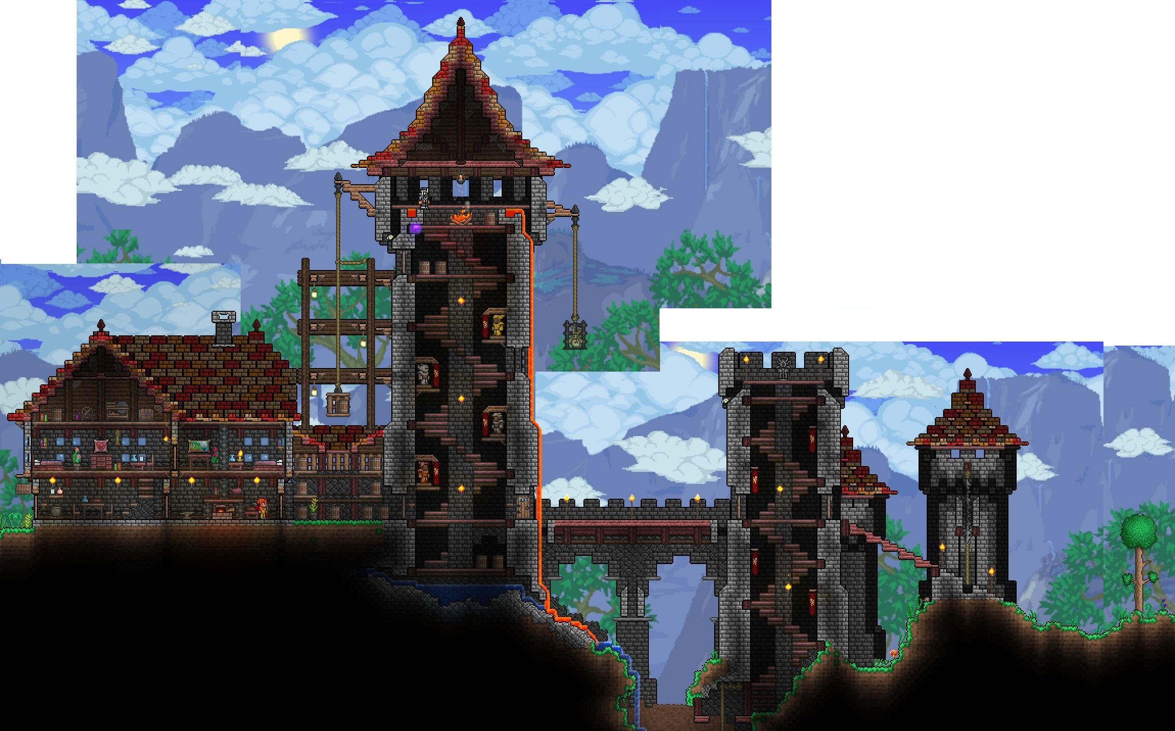 how to get a meteorite to land in terraria