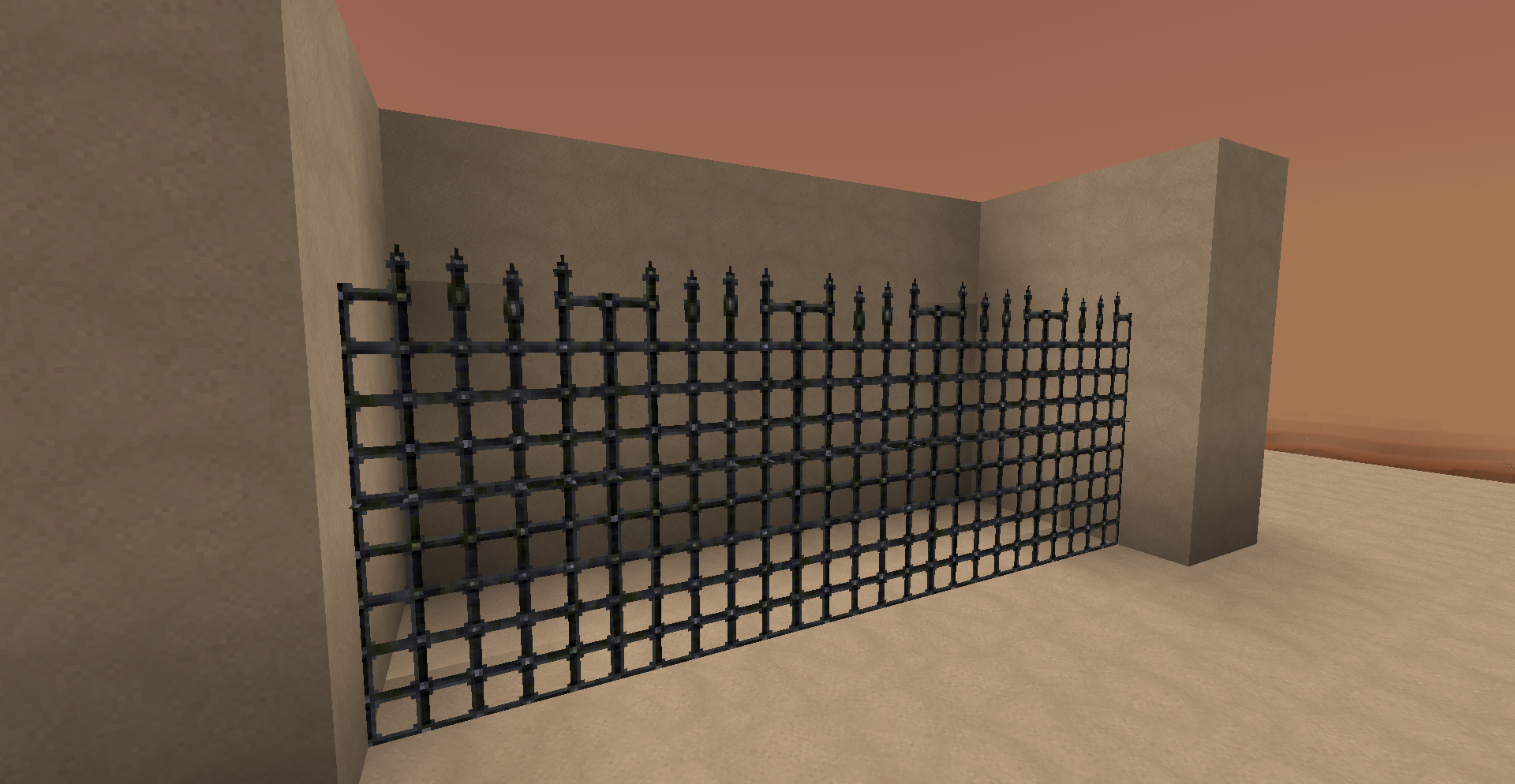 Fancy And Spiky Iron Bars