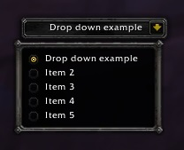 Drop down example
