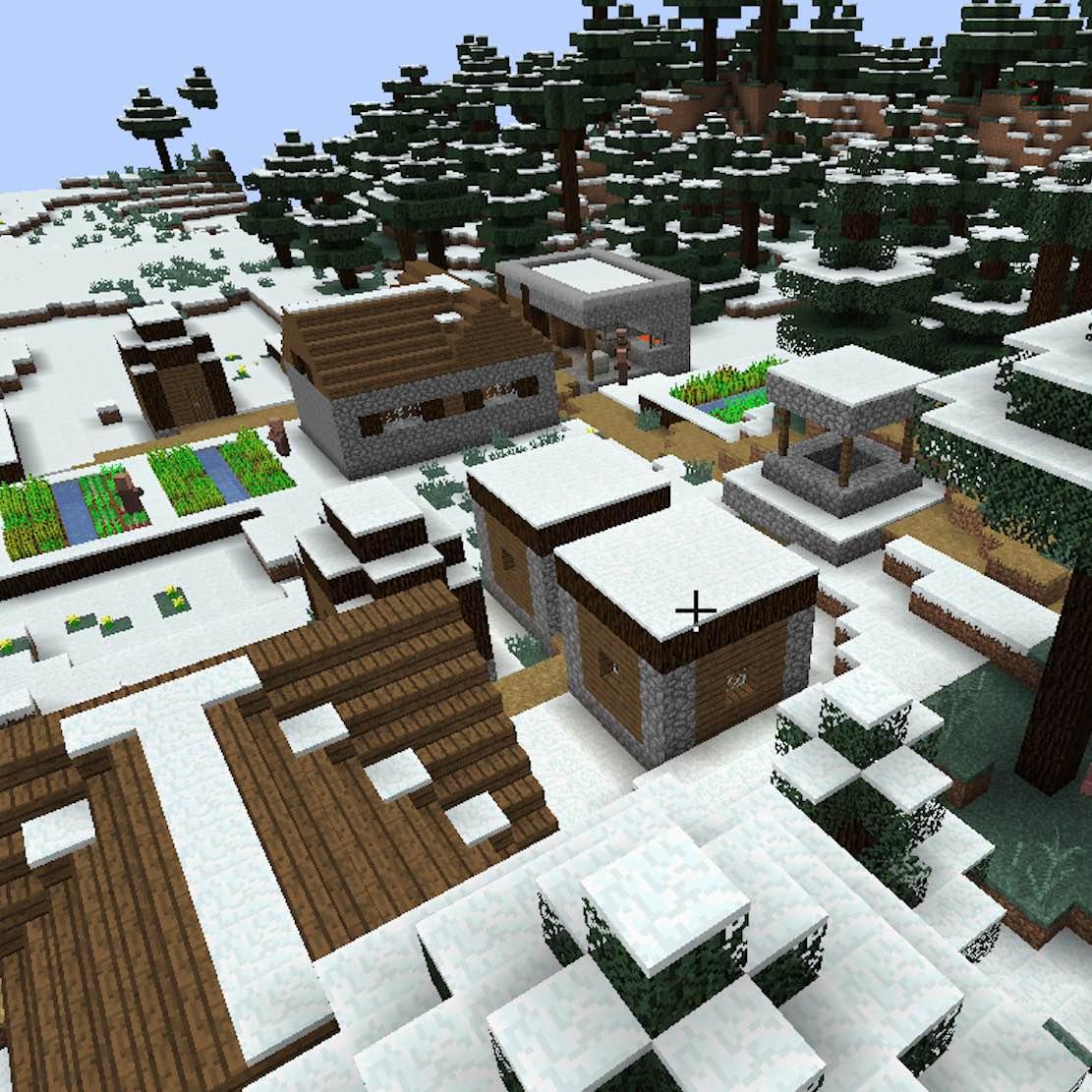 Cold Taiga village