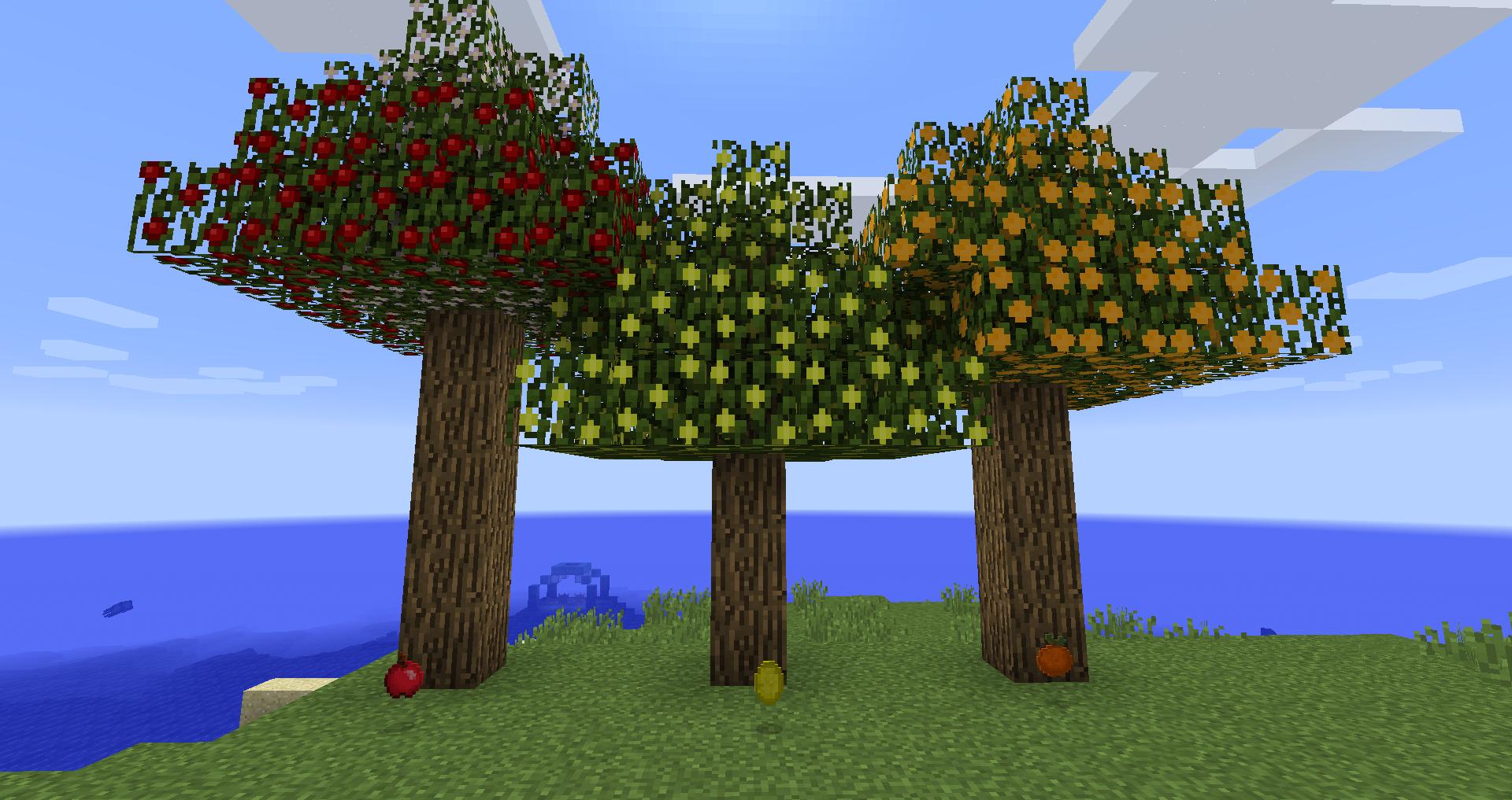 172 майнкрафт мод на фруктовые деревья #2