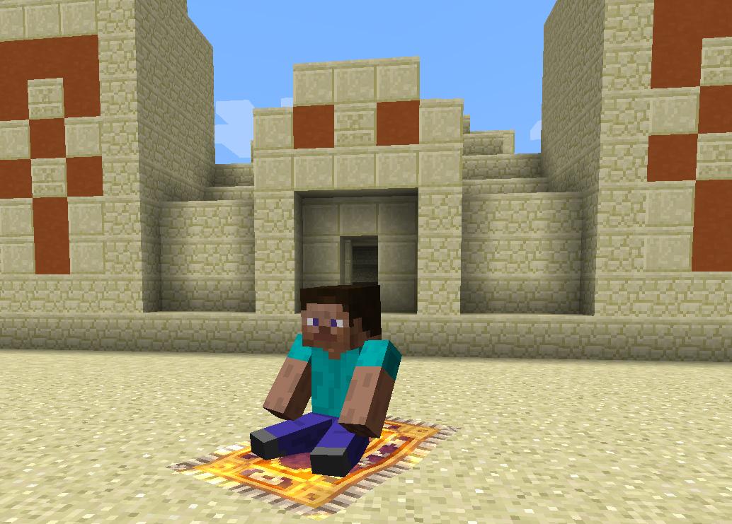 Magic Carpet with pyramid : minecraft
