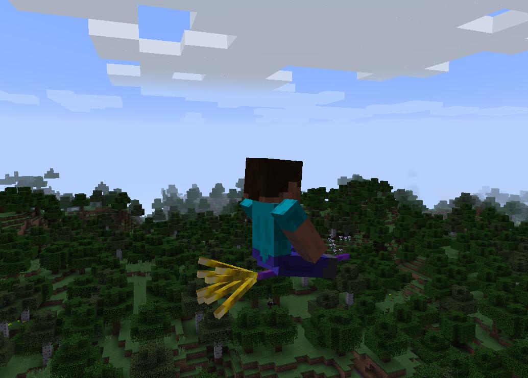 Flying broom in minecraft