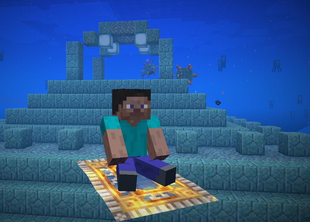 Flying carpet underwater : minecraft