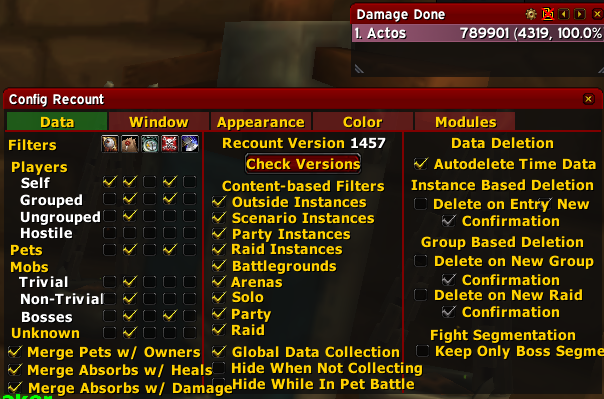 Chat wow addon recount