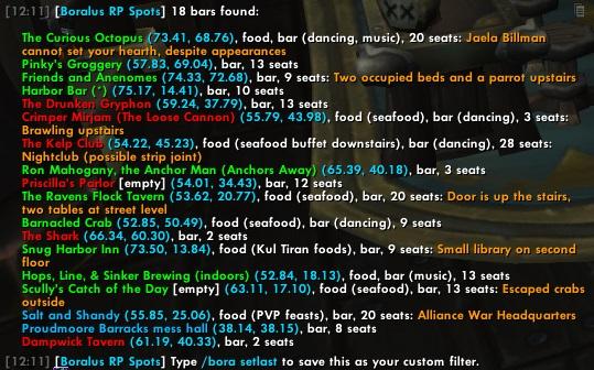 Output of /bora bar