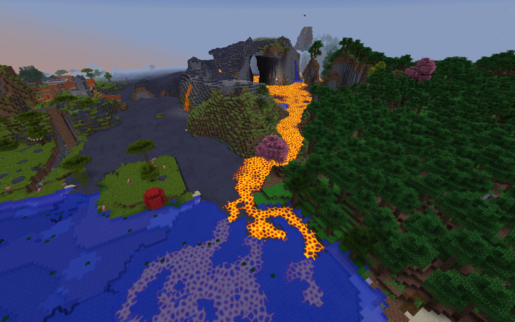 Long lava flow