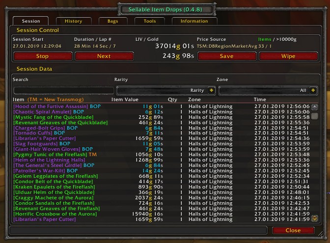 SellableItemDrops - Addons - World of Warcraft - CurseForge