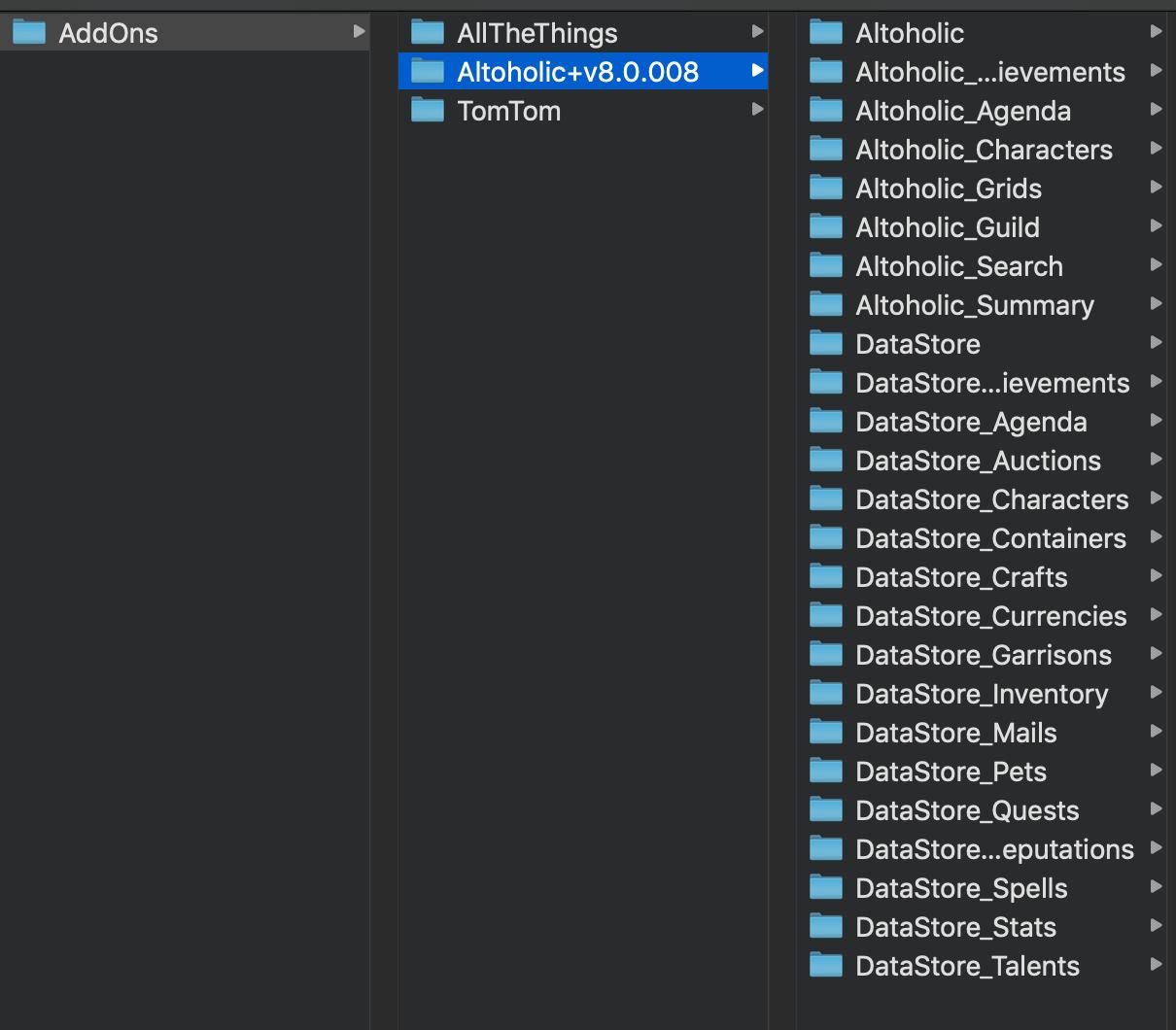 Altoholic Addon can't load altoholic addon - addon help! - addon chat