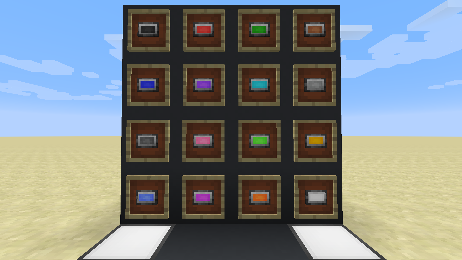 minecraft stained glass block id