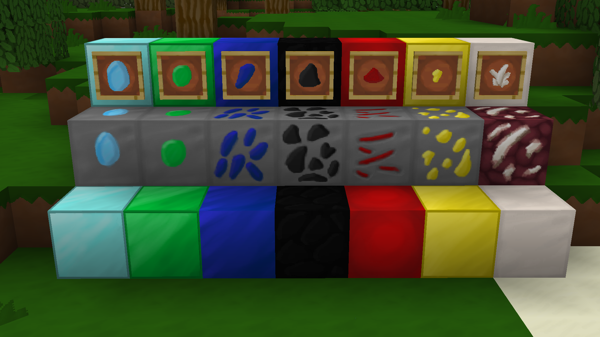 Ores, Blocks, and Items