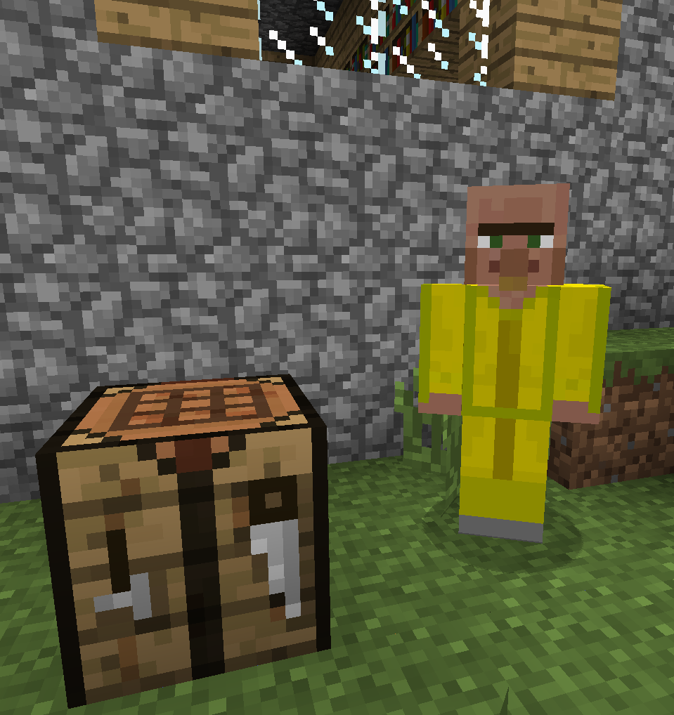 minecraft helpful villagers mod how to get the merchant setup