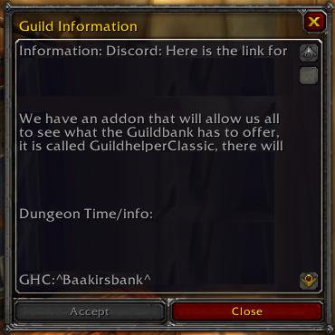 Guild Information Authorization