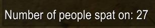 Number of people spat on.