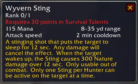 Wyvern Sting tooltip