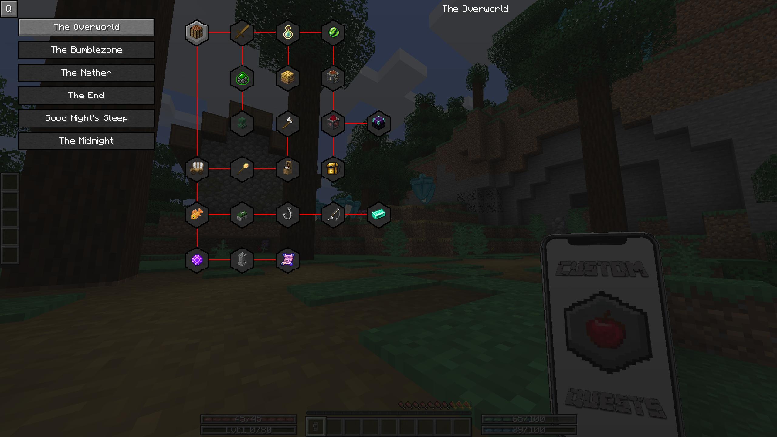 Progression log for the overworld.