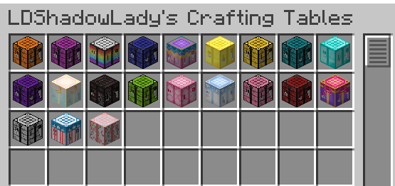 Crafting Table Selection