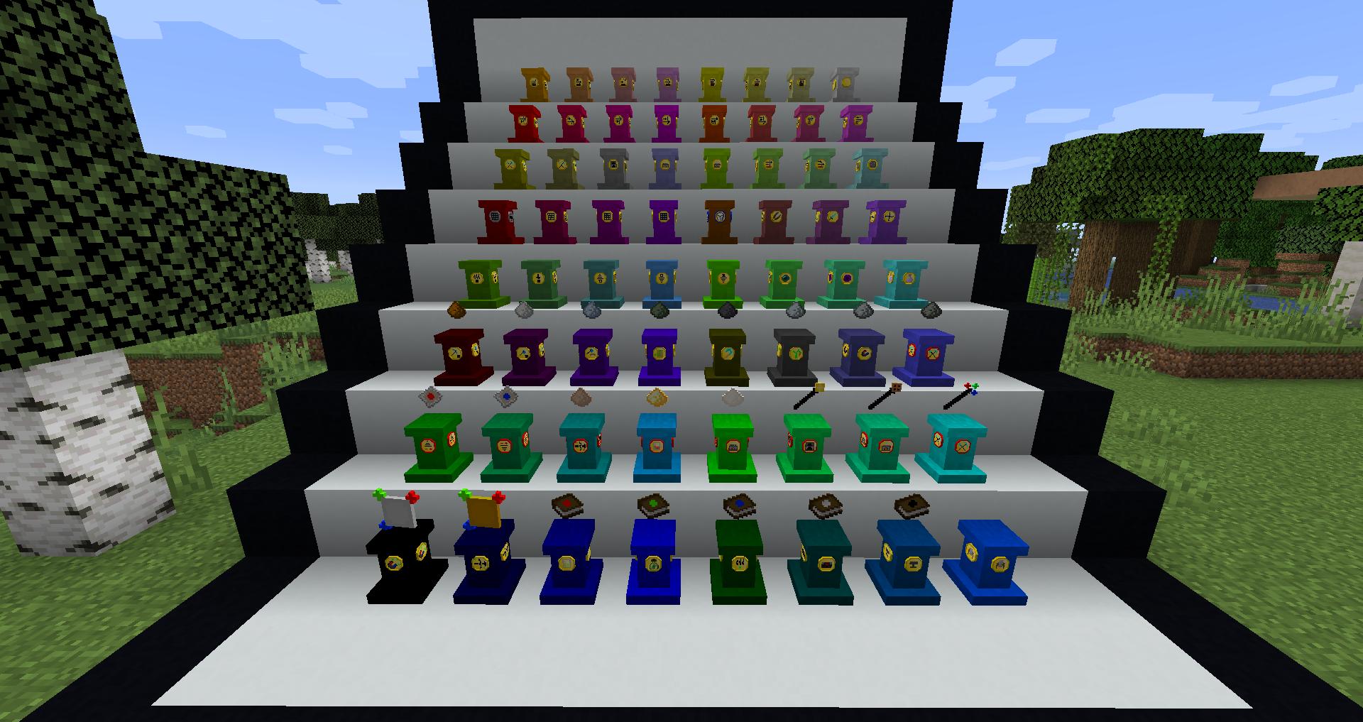 Colored Pedestals