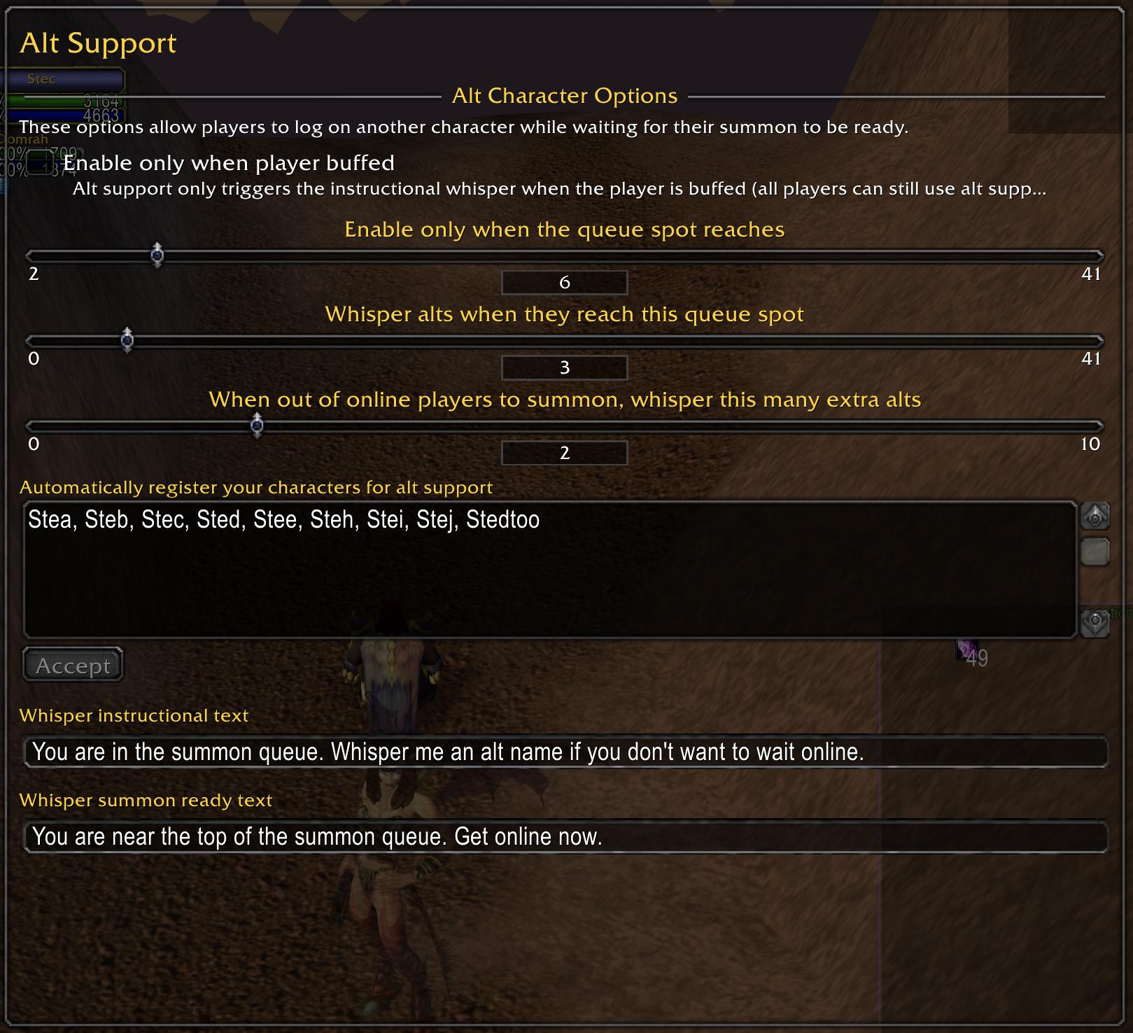 Alt support