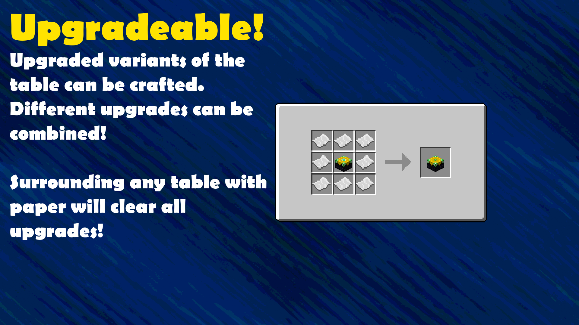 Crafting Guide: Table Upgrades