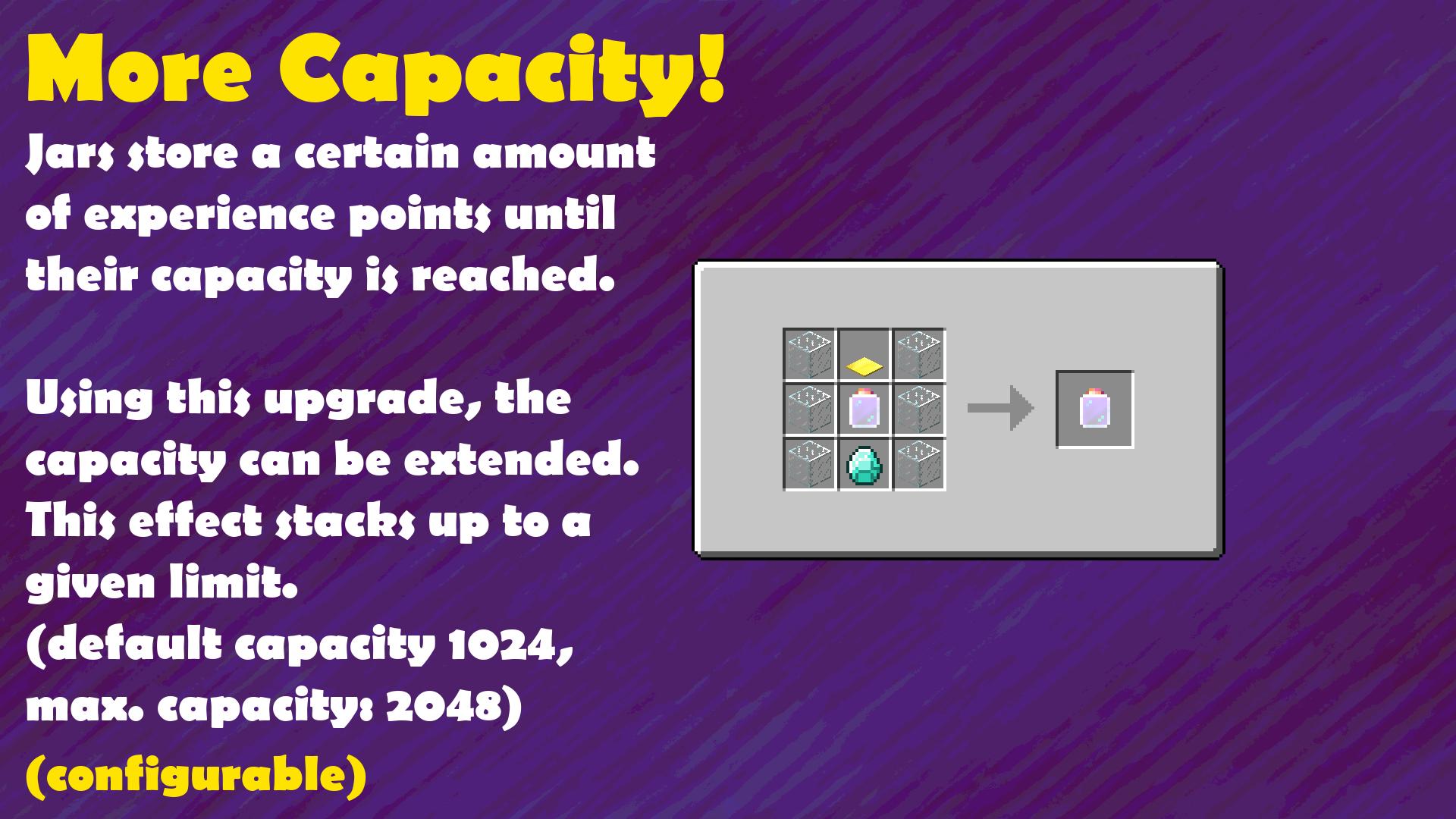 Crafting Guide: Jar Capacity