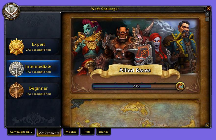 Achievements WoW Challenger