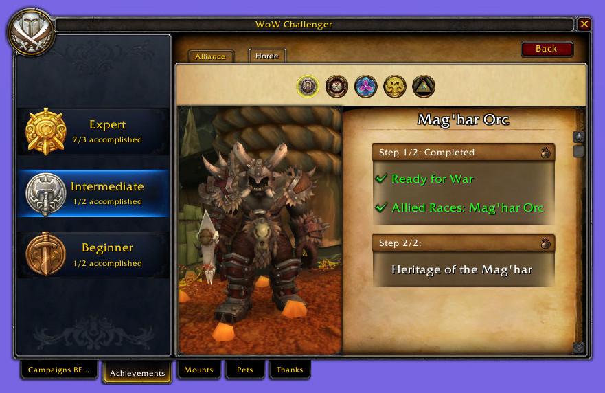 Achievements 2 WoW Challenger