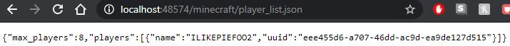 PlayerList JSON