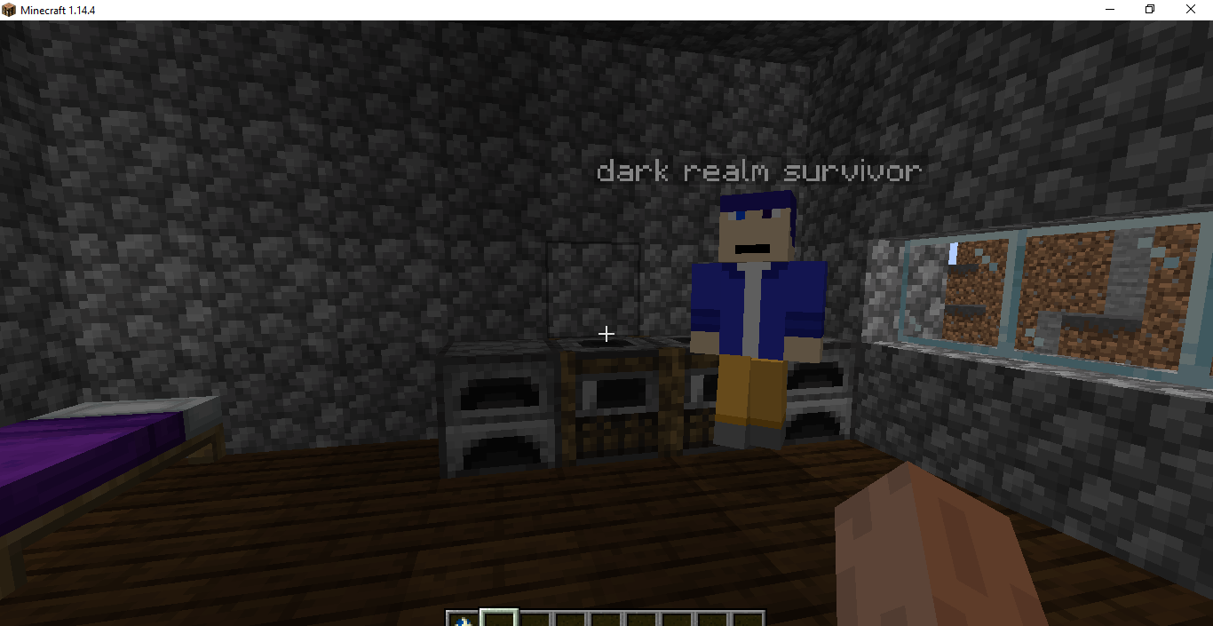Dark Realm survivor in his house