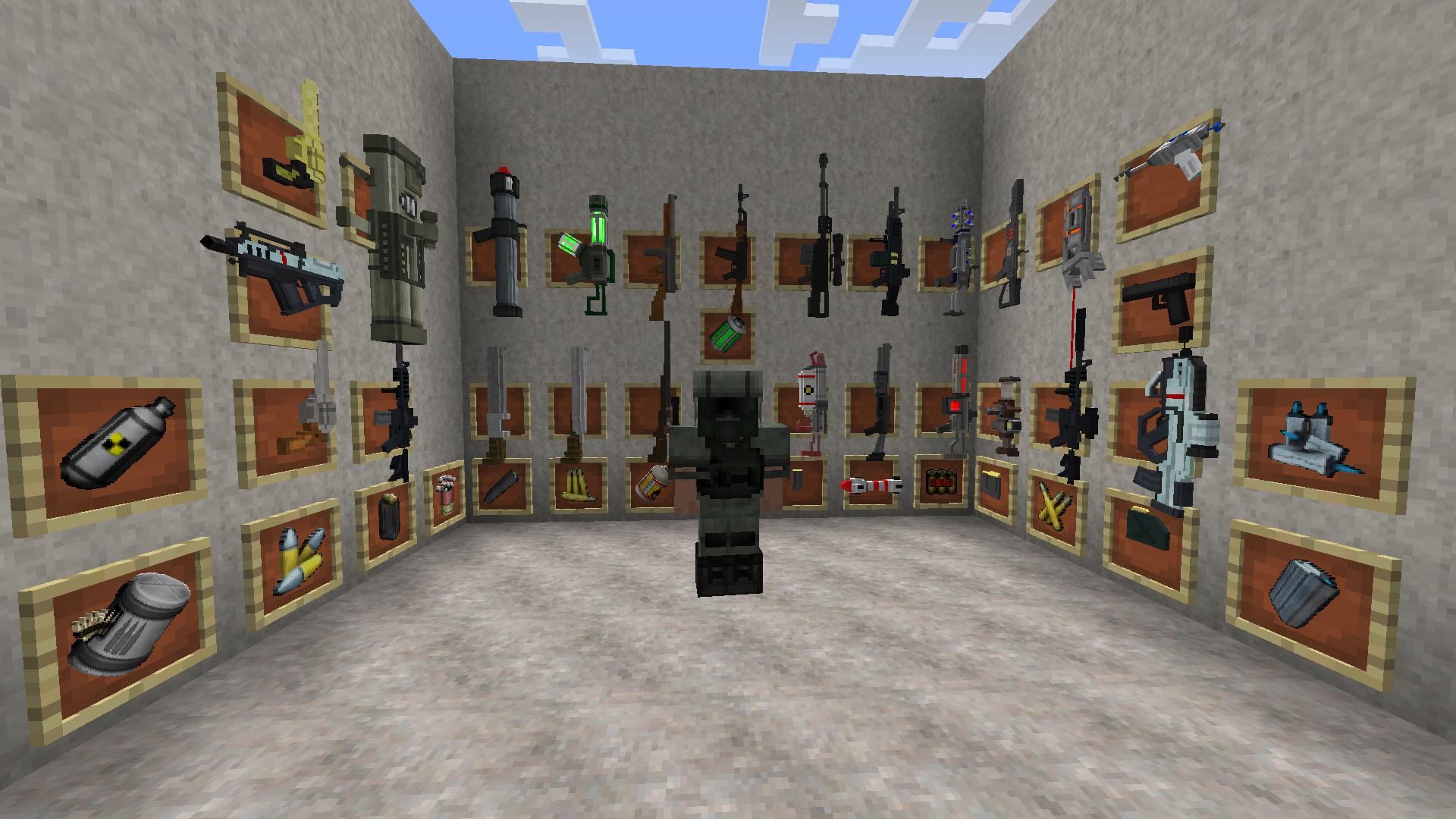 Мод в майнкрафт 1.7.10 на пушки и лазерные установки