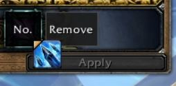 Block Frame and Remove Button