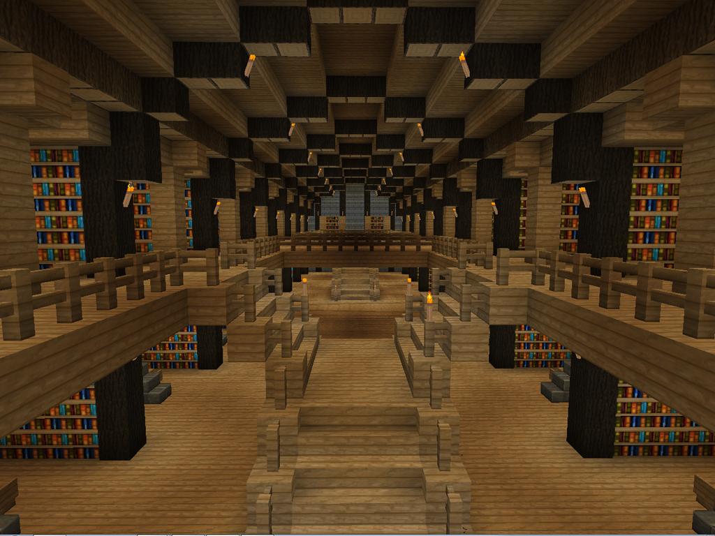 Minecraft Build Bibliotheque