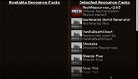 Rift Modloader using Resource Packs Menu, Not Folder To Mention Any Mods Accessed By The Client
