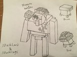 Mush Lord & Mushlings Design Sketch
