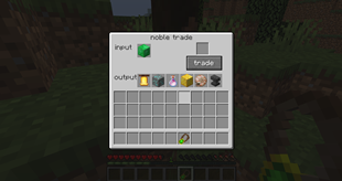 The nobles trade GUI