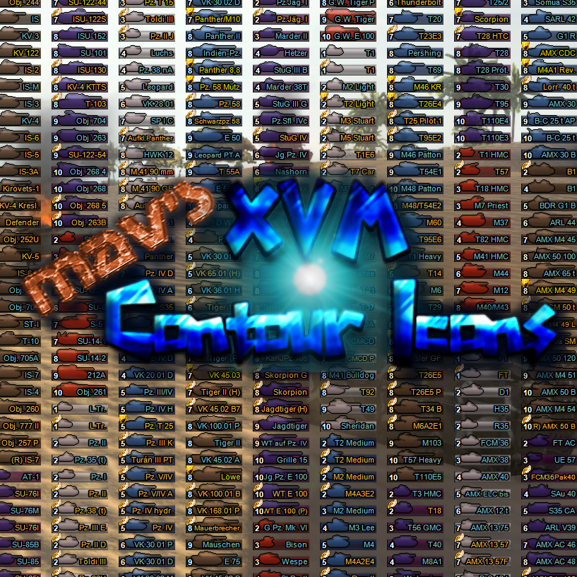 Overview - Mav's Contour Icons for XVM - XVM not included