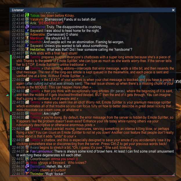 Overview Emote Splitter Addons Projects Wow Curseforge