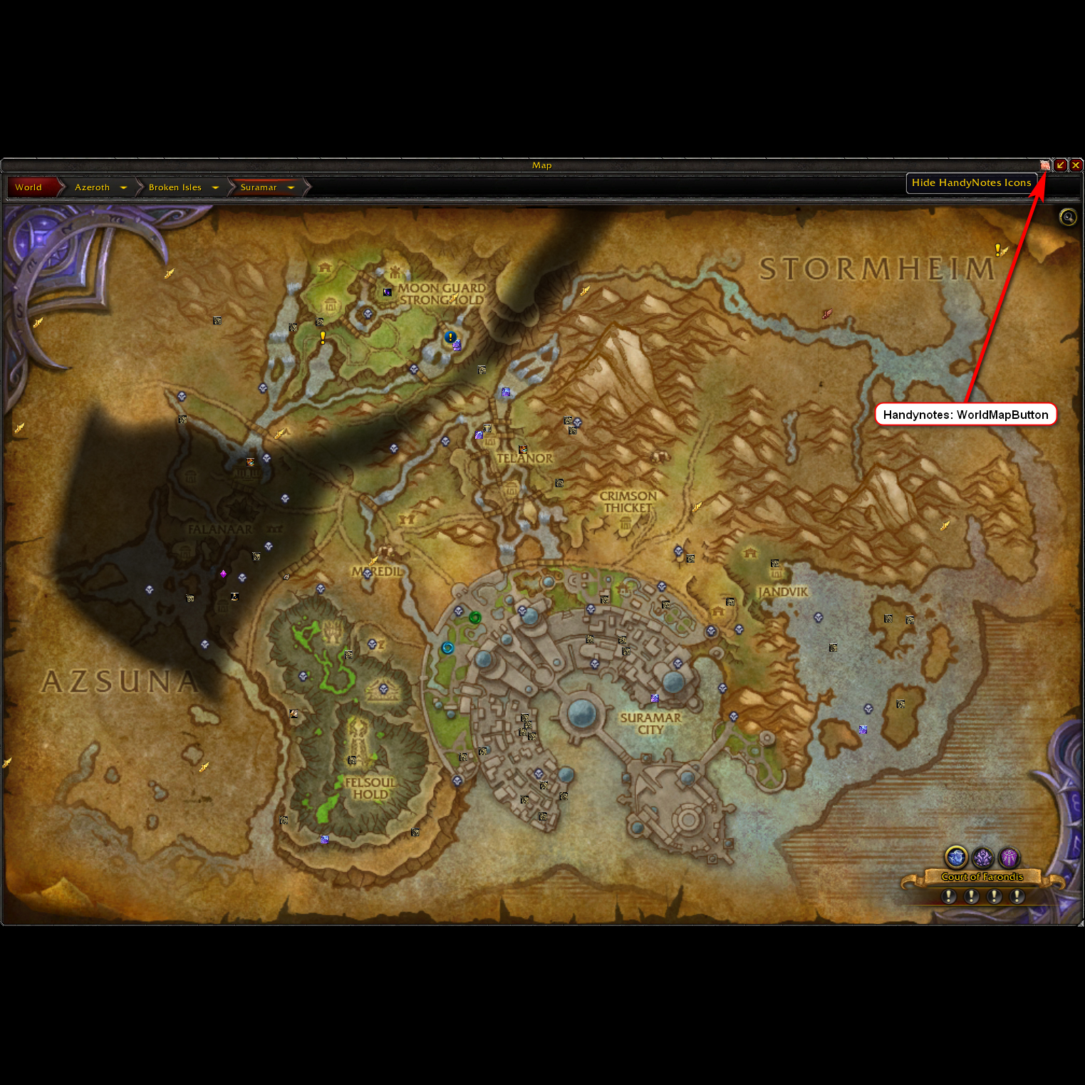 Overview - HandyNotes: WorldMapButton - Addons - Projects