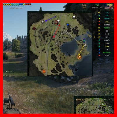 world of tanks tactical view mod
