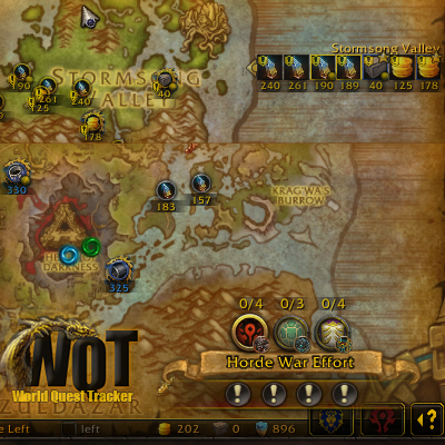 Overview World Quest Tracker Addons Projects Wow Curseforge