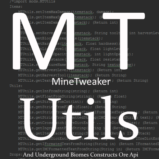 Overview - MTUtils - Mods - Projects - Minecraft CurseForge
