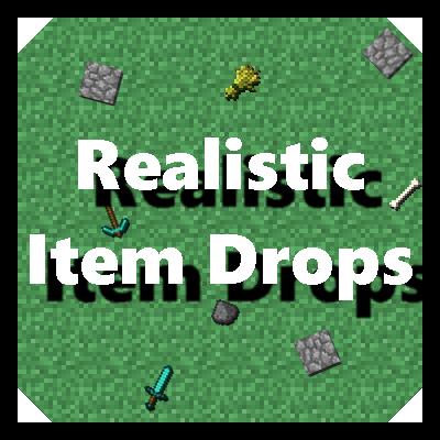 майнкрафт мод realistic item drops