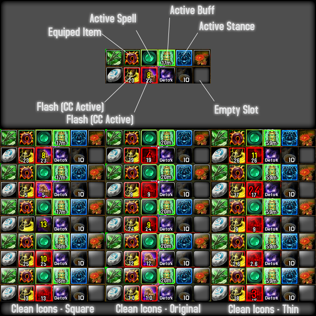 overview masque clean icons addons projects wow curseforge