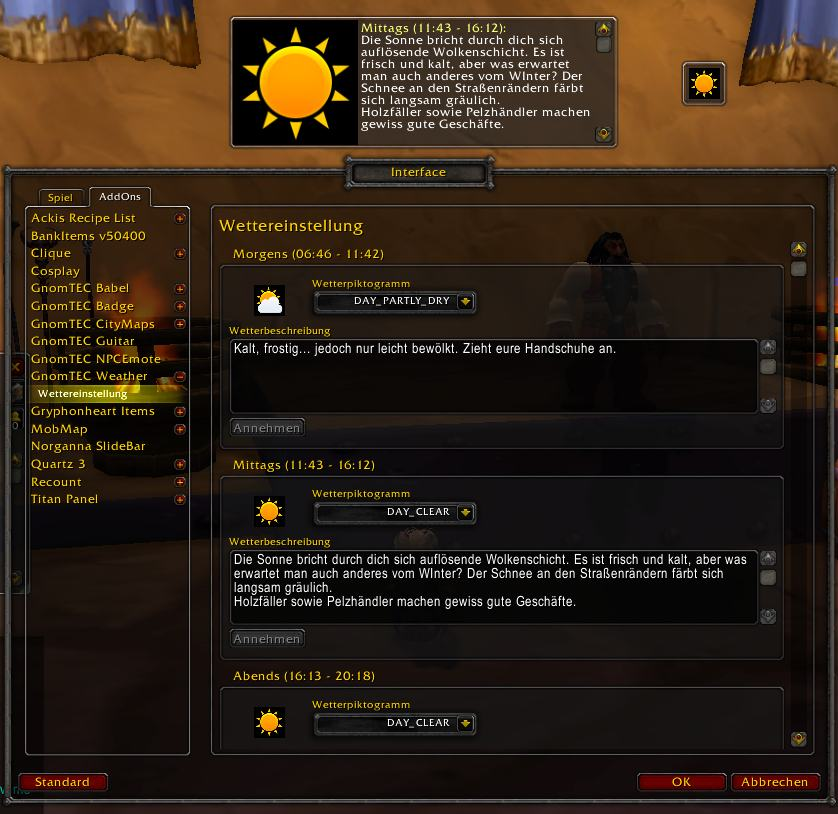 7 3 0 16 - Files - GnomTEC Weather - Addons - Projects - WoW